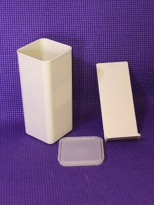 Tupperware Mini Cheese Keeper 1827 container 1 lb size 3 pc Space Saver Vintage