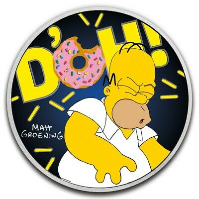 The Simpsons - Homer Simpson Special Edition Tuvalu 1$ Dollar 1oz colorized coin
