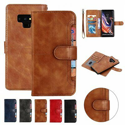 For Samsung Note 10 Plus S10 S9 S8 Detachable Magnetic Leather Wallet Case Cover