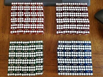 100 Total (4 Colors)(25 each)Red/Blue/Green/Purple) Polished Nevada Casino Dice.
