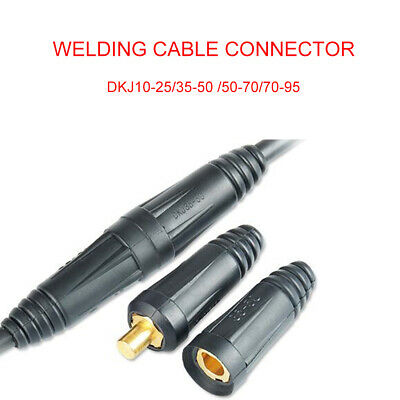 Male Cable Connector Plug Socket Copper Welding Machine Quick Fitting DKJ