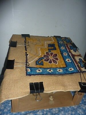Charco Rug Hooking Pattern Jane McGown Flynn w wooden stand primitive punch hook