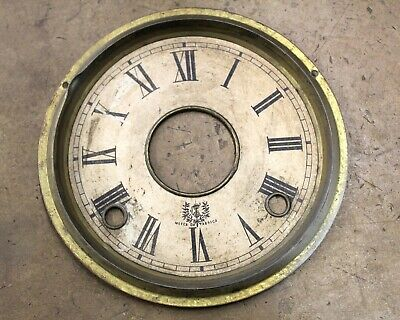 """Antique French Steeple Clock Dial - Marked """"Marca Da Fabrica"""""""