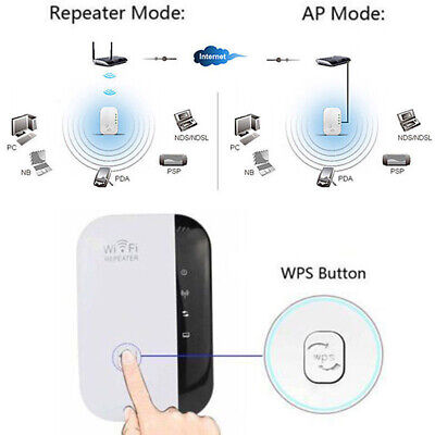 Wireless Wifi Range Extender Super Booster 300Mbps Superboost Boost Speed Kit