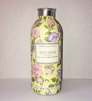 Sealed Crabtree & Evelyn Summer Hill talc-free Body Powder 2.6 oz. / 75 g