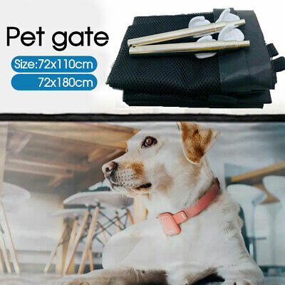 Safety Enclosure Dog Gate Safe Pet Barrier Mesh Anywhere Magic Guard&Install