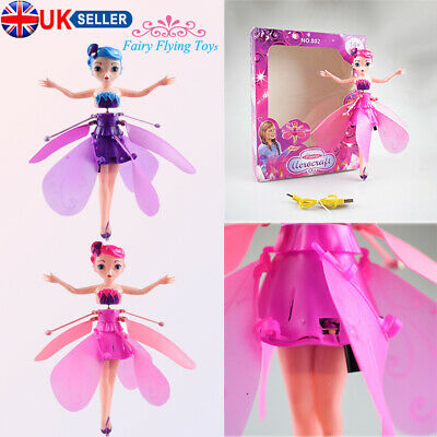 Flying Fairy Princess Dolls Magic Infrared Induction Control Mini Toys Xmas Gift