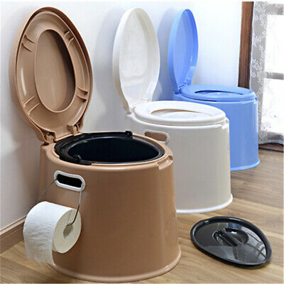 Portable Large Potty Commode Toilet Flush Travel Camping Hiking Outdoor