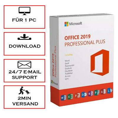 MS Office 2019 Professional Plus (PRO PLUS) 32&64 Bits - Blitzversand per E-Mail