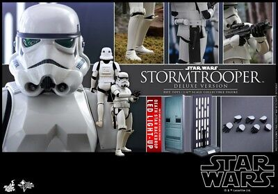 1/6 Stormtrooper Deluxe Ver. w/LED Figure Collectible Hot Toys MMS515 Star Wars