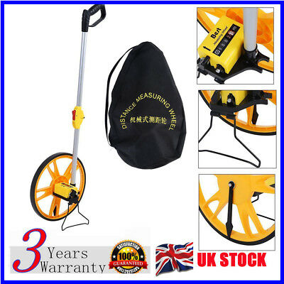 32cm Foldable Distance Measuring Wheel w/ Stand Bag Surveyors Builders Road Land