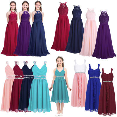 Flower Girl Princess Dress Kids Pageant Wedding Junior Bridesmaid Formal Dresses