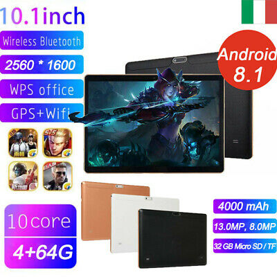 10 pollice Tablet 10 Core 4GB 64GB Wifi 4G Android 8.1 dual Sim GPS Bluetooth