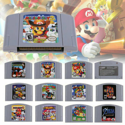 For Nitendo N64 Game Mario Kart 64 Party Video Game Cartridge Card AU Version
