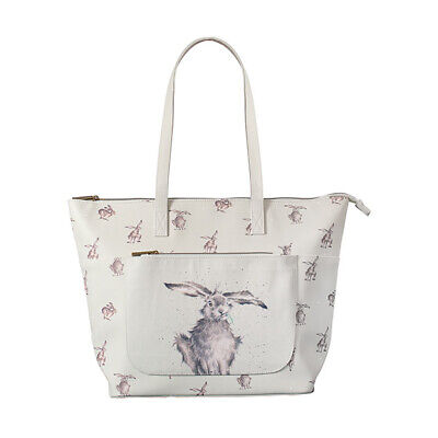 Wrendale Leaping Hare Everyday Bag Vegan Leather & Canvas Handbag