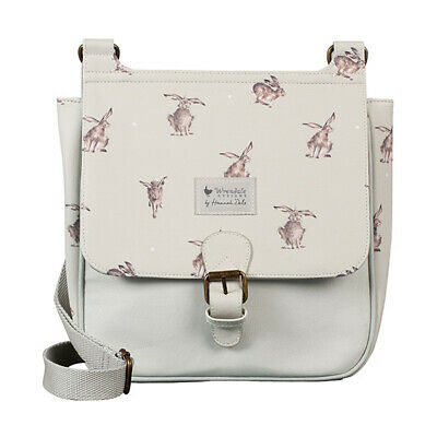 Wrendale Leaping Hare Satchel Bag Vegan Leather & Canvas Handbag