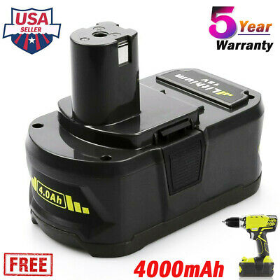 18V P104 Lithium Battery for Ryobi One Plus P108 P107 P108 P105 P102 4.0AH Tools