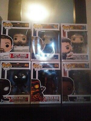 Funko pop marvel lot of 6