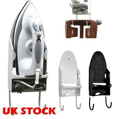 Over the Door Or Wall Ironing Holder Rack Iron Board Hanger Home Space Saver UK