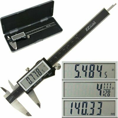 """Electronic Digital Caliper 0-6"""" Display Inch/Metric/Fractions Stainless Steel"""