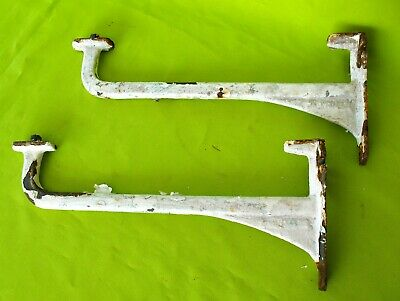 Pair of old vintage reclaim Dauntless Belfast sink brackets or shelf brackets