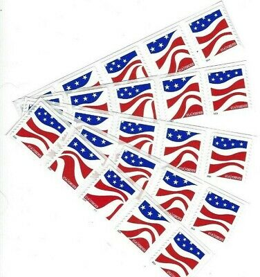 Scott# 4894-97 RED, WHITE & BLUE  PNC Strip of 5 Forever Stamps