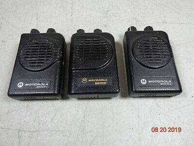 Motorola Minitor V (5) 2-Channel VHF Stored Voice SV Pager A03KMS9239BC  LOT 3