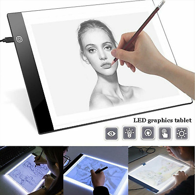 LED Tracing Light Board Art Tattoo A5 Drawing Copy Pad Table Stencil Display CA