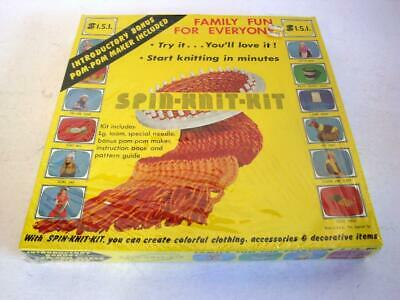 Vintage Spin Knit Kit - Round Loom For Weaving - SEALED 1974