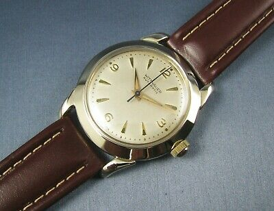 Vintage Longines Wittnauer Automatic 10K Gold GF Mens Watch 17J 11ARG  1950s
