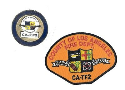 New-LACoFD CA-TF2 USAR Urban Search & Rescue Fire Challenge Coin & PATCH