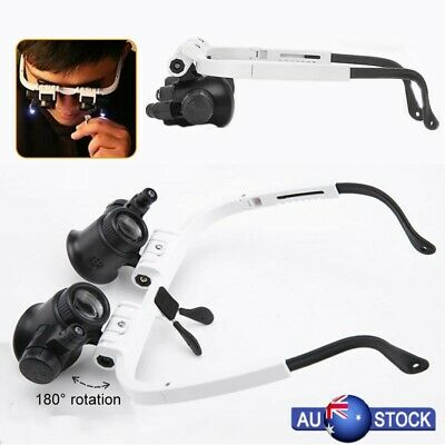 Helmet-mounted Magnifier With Lamp Spectacle Type Magnifier Maintenance Tools