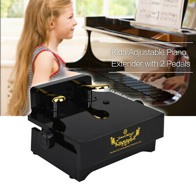 Piano Pedal Extender Bench Kids with 2 Pedals Adjustable Height Beginners V3T2