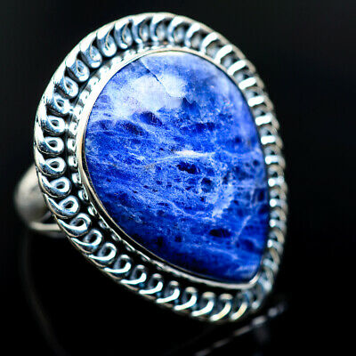 Large Sodalite 925 Sterling Silver Ring Size 6.75 Ana Co Jewelry R965921F