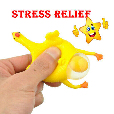Funny Keychain Small Egg Slow Rising Chicken Stress Relief Key Ring Animal Toy