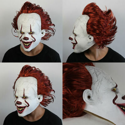 Halloween Mask Stephen King'S It 2 Joker Pennywise Full Face Horror Clown Party