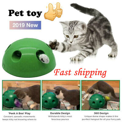 """Pop N""""Play Interactive Motion Cat Toy Mouse Tease Electronic Pet Toys"""