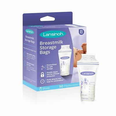 Lansinoh Breastmilk Storage Bags  Milk Freezer Bag  50 Count (1 Pack of 50 Bags)