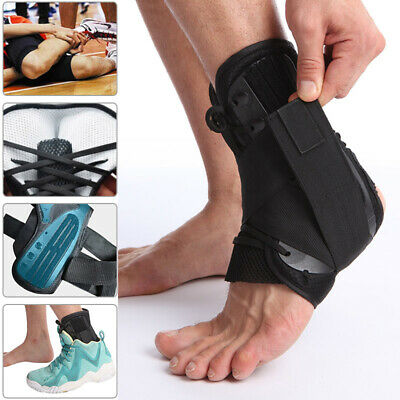 Ankle Lace Up Support Brace Guard Injury Pain Stabilizer breathable Tools S-L