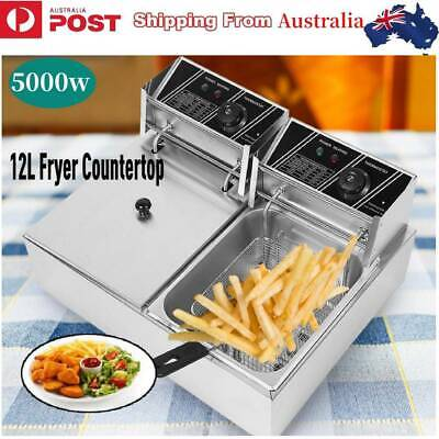 12L Commercial Use Economical Double Cylinder Deep Fryer Electric Countertop
