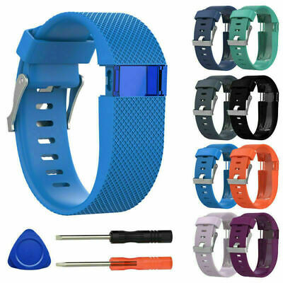 Silicone Replacement Band Bracelet Wrist Strap For Fitbit Charge HR with Tools