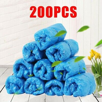 200Pcs Disposable Anti Skid Durable Non Woven Fabric Non-slip Shoe Covers Fine
