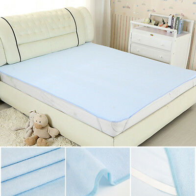 Washable Waterproof Incontinence Bed Sheets Seat Pads Protection Mattress 1mx2m