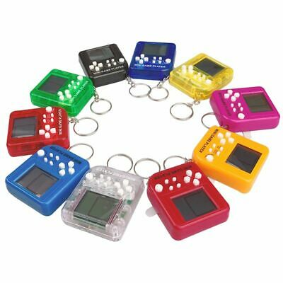 Mini Tetris Game Console Keychain LCD Handheld Game Players Children Toys