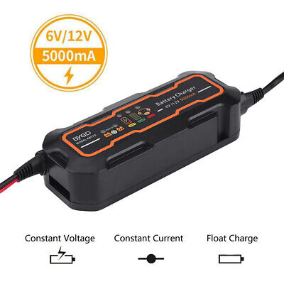 5A 12V Car Trickle RV Motorcycle 3 Step Automatic Smart Battery Charger HOT