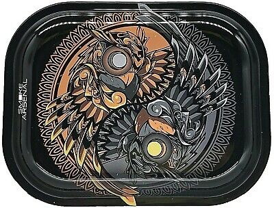 "Smoke Arsenal Premium Rolling Tray ""Ying and Yang-S95"" 5.5"" x 7"""