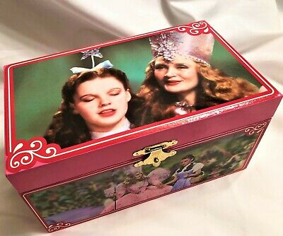 "Wizard of Oz Music Box Egg /& Ruby Slippers Necklace /""Over the Rainbow/"" !"