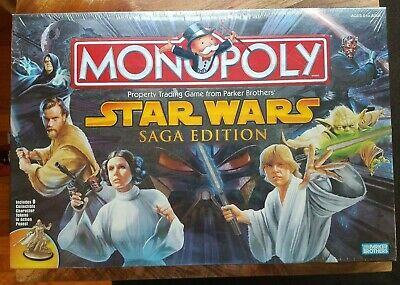Star Wars Monopoly Saga Edition 2005 Hasbro Parker Brothers NEW IN BOX SEALED