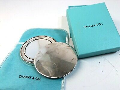 Vintage Tiffany & Co. Sterling Silver Compact Case Mirror Make Up.925 2001 Spain