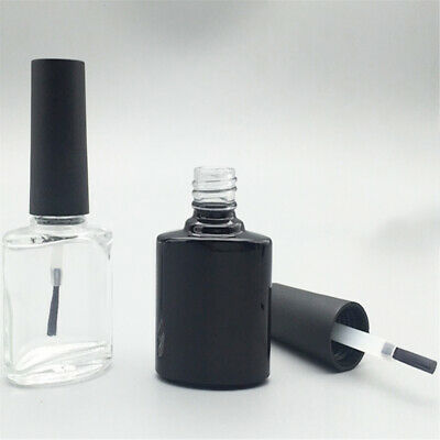 10ml Portable Nail Polish Varnish Empty Glass Bottle Makeup Container with Brush